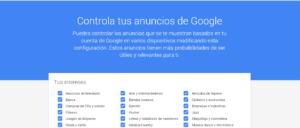 Configuración Google Adwords