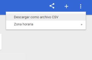 descargar archivo csv en google trends