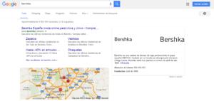 Bershka enlaces de páginas